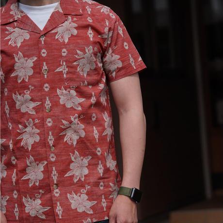 PENDLETON Aloha Shirt(Red Hibiscus Print)