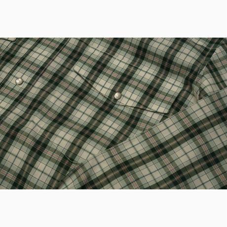 Wrangler L/S western shirt(グリーン)