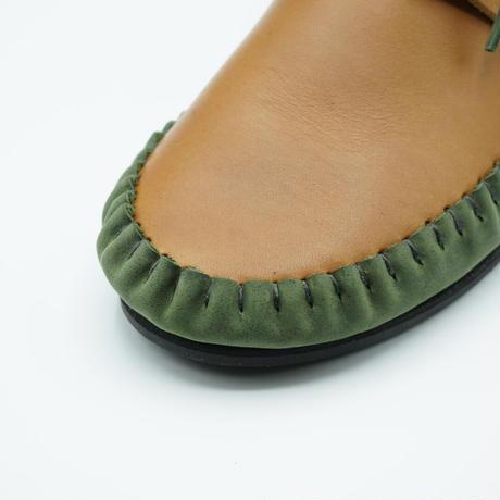 FUNNY Moccasin Desert Boots(ブラウン×バンブー)