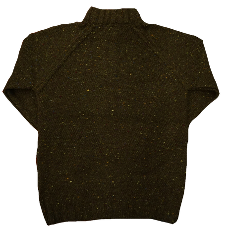 Fisherman Half zip sweater(オリーブ)