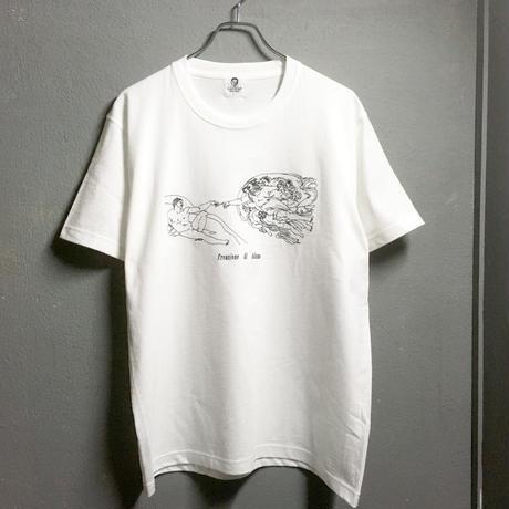 アダムの創造 ステッチ刺繍Tシャツ