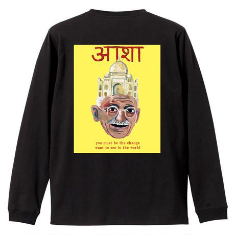 Gandhi3 ロングスリーブTシャツ