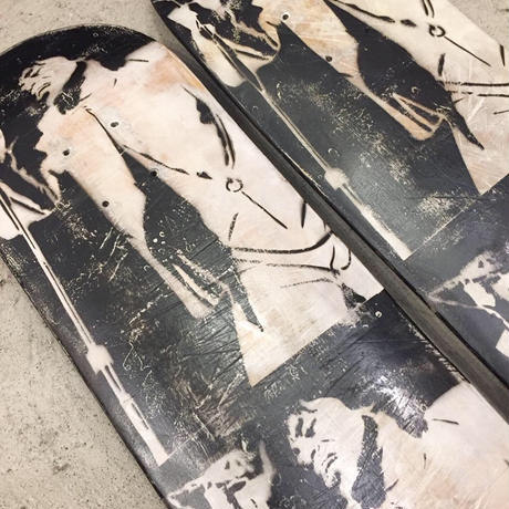 "【LEDGE】""FUNKY PRESIDENT"" PRINTED ON USED SKATE DECK"