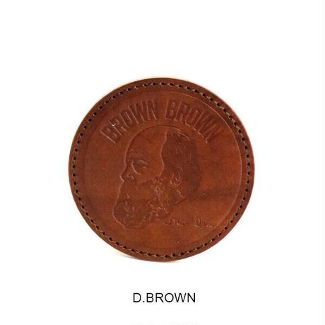 【BrownBrown】Mr.Brownエンボスコースター