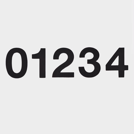 NUMBER (Black)