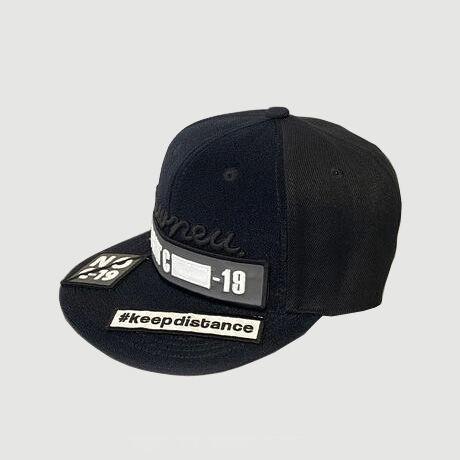 """LOGO CAP """"NO C-19 set"""" (GRAY)"""