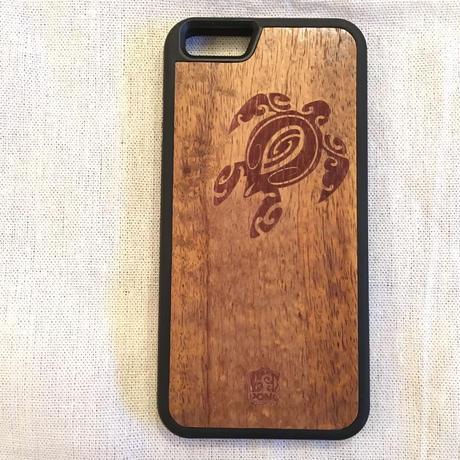 iPhone7 カバー 【 Pono Woodworks 】 ハワイアン コアウッド  ケース【 ホヌ・パイナップル・フラワー・ワーゲン・アイランド・トライバル】