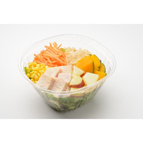 WithGreen/蒸し鶏とりんごの玄米サラダ
