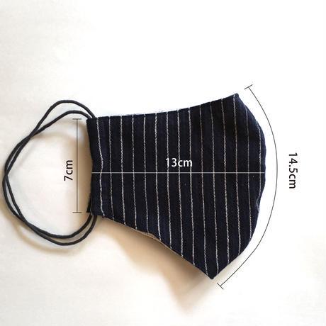 TMN FACTORY | 遠州織物Nフィットマスク(杉浦テキスタイル/しま)M