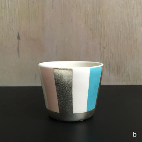 THE ACE SHOP | 徳田吉美 漆蒔きマグカップ(小) ストライプ