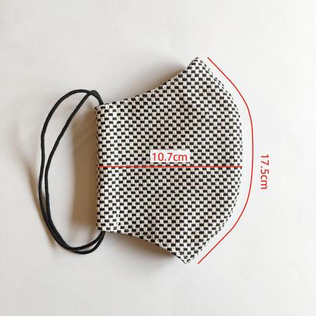 TMN FACTORY | 遠州織物マスク(黒刺し子) M