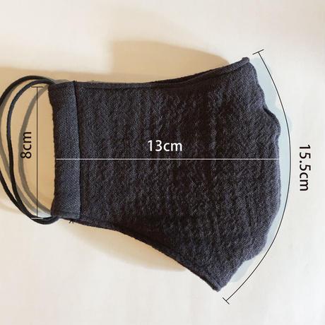 TMN FACTORY   遠州織物Nフィットマスク(杉田テキスタイル/紺ガーゼ) L