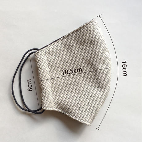 TMN FACTORY | 刺し子マスク(ライトチャコール)