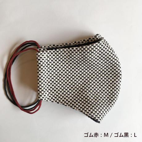 TMN FACTORY | 遠州織物Nフィットマスク(黒刺し子)  L