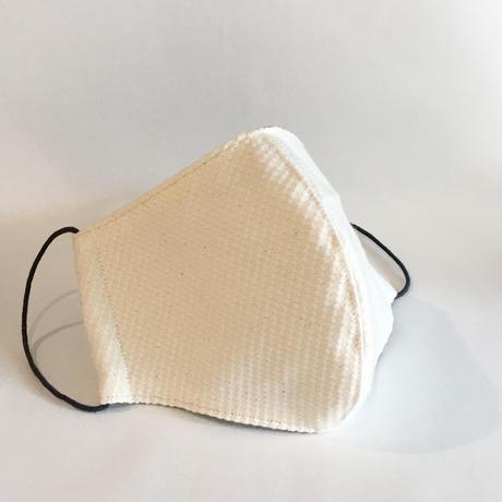 TMN FACTORY | 遠州織物Nフィットマスク(生成り刺し子) L