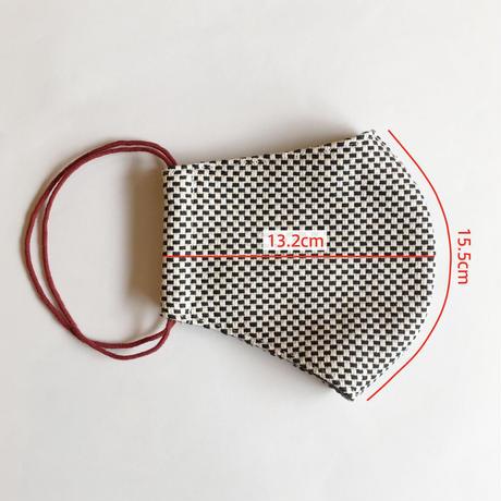 TMN FACTORY | 遠州織物Nフィットマスク(黒刺し子)  M