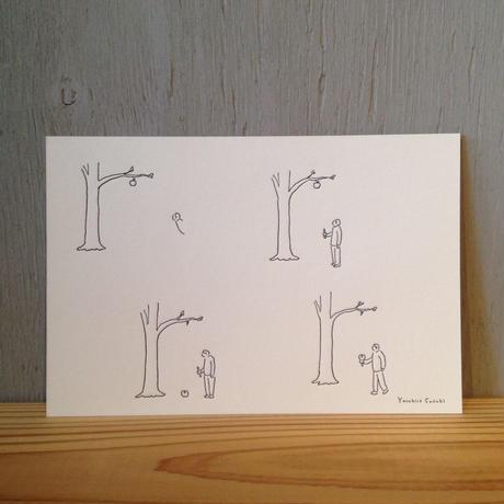 Yasuhiro Suzuki   ポストカード りんごのけん玉