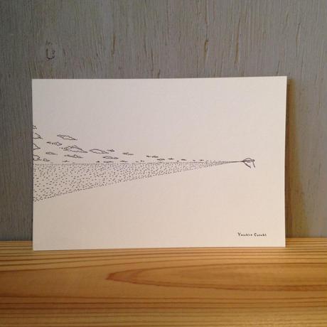 Yasuhiro Suzuki   ポストカード 水平線を描く鉛筆