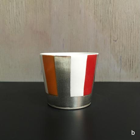 THE ACE SHOP   徳田吉美 漆蒔きカップ(小) ストライプ
