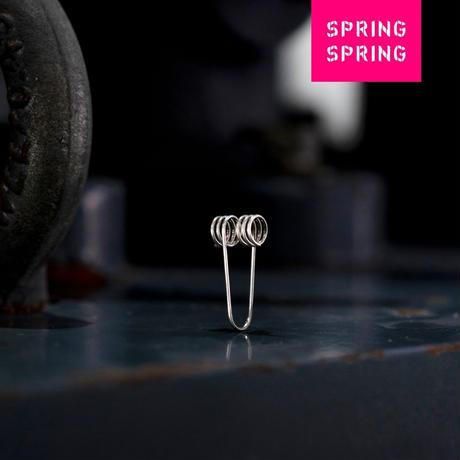SPRING SPRING|SPRING WEAR pinch(イヤリング)SILVER