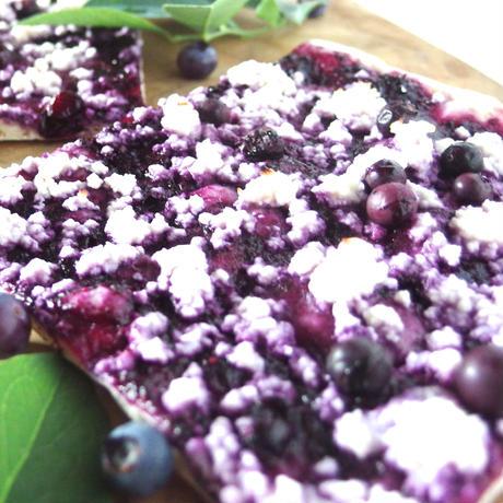 天然酵母 季節野菜のピザ& ブルーベリーのスイーツピザセット