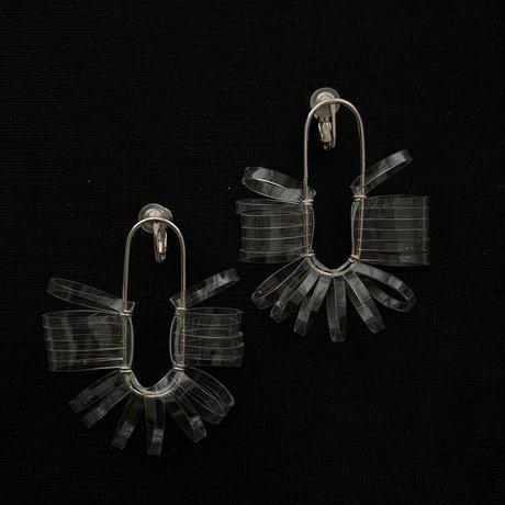 クリアカットトンネル earring クリア