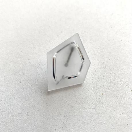 【片耳】氷の石×シャイニー(大)