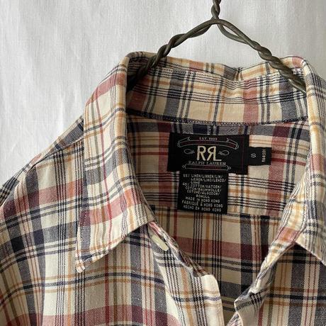 """ RRL "" Linen × Cotton Check Shirts"