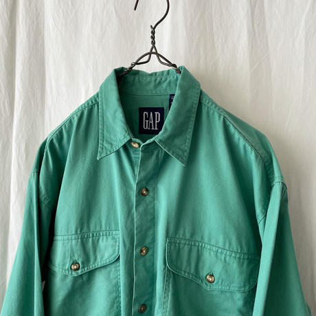 "90′s ""GAP "" Green Cotton Shirts"