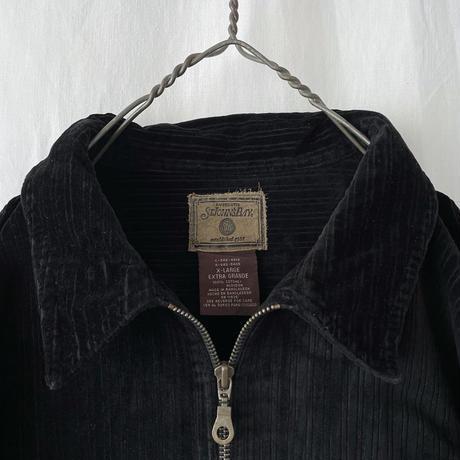 "▪️ "" ST JOHN'S BAY "" Black 太畝 Corduroy Zip-up Shirts ▪️"