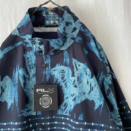 "▪️ Deadstock "" RLX "" Indigo "" 3-Layer Waterproof Pullover Jacket Size XL ▪️"