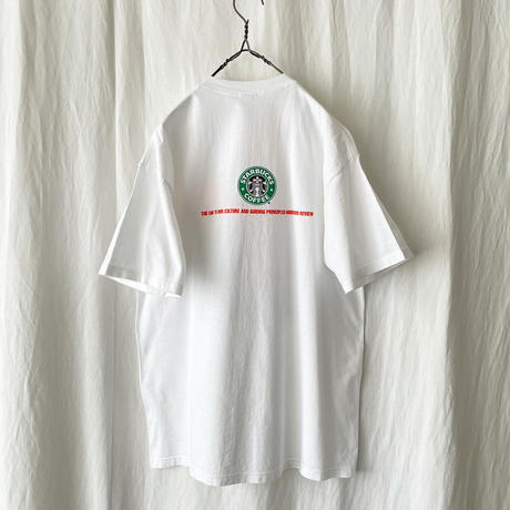 """Deadstock 90′s """" STARBUCKS """" Printed T-Shirts made in usa"""