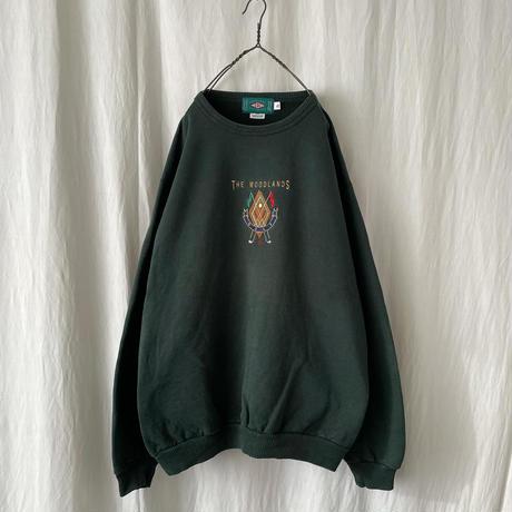 "▪️ 90's "" THE WOODLAND GOLF "" 刺繍 Sweat Shirts  ▪️"