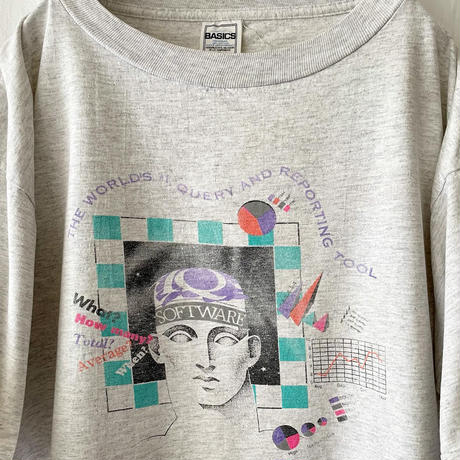 "90′s "" IQ SOFTWARE "" Printed T-Shirts"