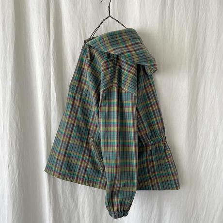 """▪️ 90's """" Eddie Bauer """" Half-zip Cotton Check Parka ▪️"""