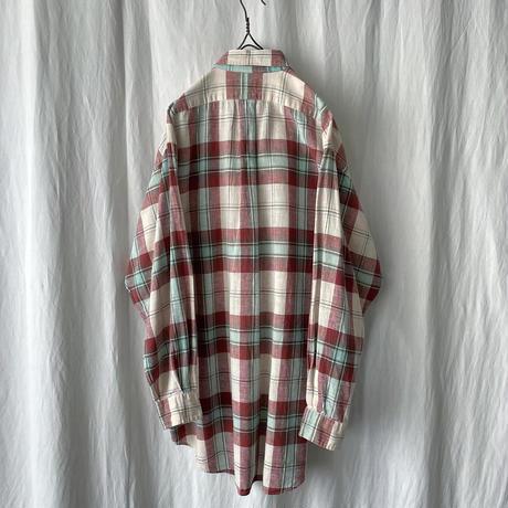 "90′s "" Polo Ralph Lauren "" Linen × Cotton Check Shirts"