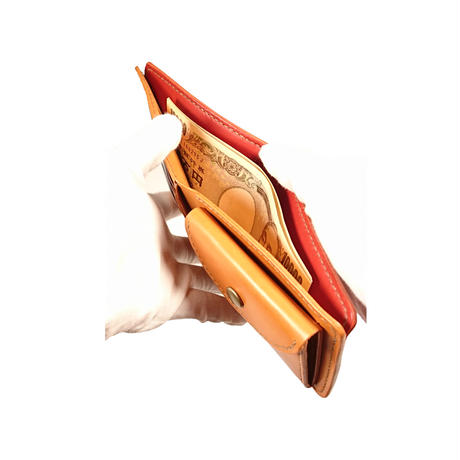 バイカラーの2つ折り財布 全7色