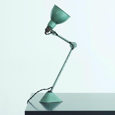 LAMPE GRAS 205 RAVEL HAMMERED GREEN   1960'S  ORIGINAL VINTAGE (No.L9)