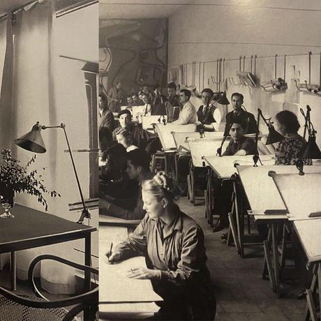 LAMPE GRAS 201 RAVEL NICKEL PLATED 1932~ ORIGINAL VINTAGE (No.L5)