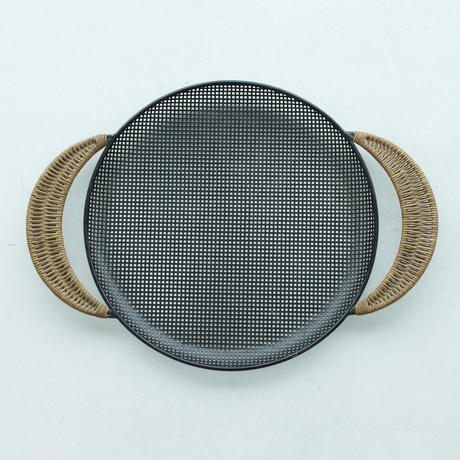 MATHIEU MATEGOT マシュー・マテゴ METAL TRAY WITH CANE HANDLES 1950'S ORIGINAL VINTAGE (No.OD1)