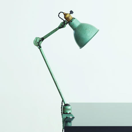 LAMPE GRAS 204 RAVEL HAMMERED GREEN   1960'S  ORIGINAL VINTAGE (No.L4)
