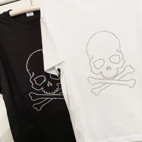 Original SKULL T  black/white(swarovski)