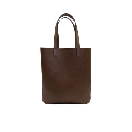 Oil leather tote【Brown】