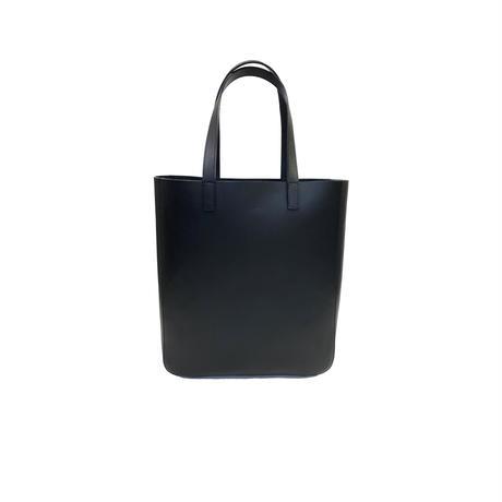 Oil leather tote【Black】