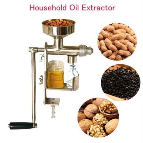手動搾油機 卓上小型オイルプレスマシン 油抽出機 ピーナツナッツ種油プレス機