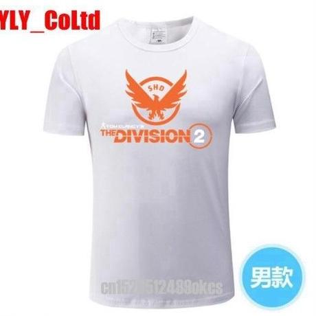 ディビジョン2 デザイン Tシャツ 白 半袖 ユニセックス ゲームグッズ Division2