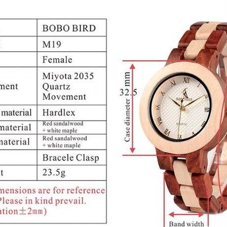 【BOBO BIRD】ボボバード ユニセックス 木製腕時計 【自然に優しい天然木】