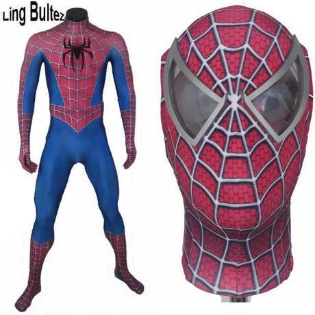 MARVEL マーベル スパイダーマン フルセット マスク 3D コスプレ コスチューム ハロウィン 衣装 映画
