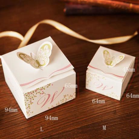 新品送料込 ギフトボックス 50個セット おしゃれ紙箱 蝶々 バレンタイン お誕生日会 結婚式 ラッピング プレゼント