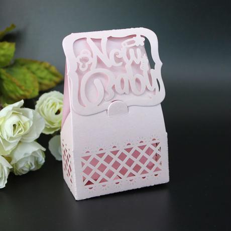 新品送料込 ギフトボックス 50個セット ベビーシャワー Babyロゴ ブルー ピンク ラッピング プレゼント